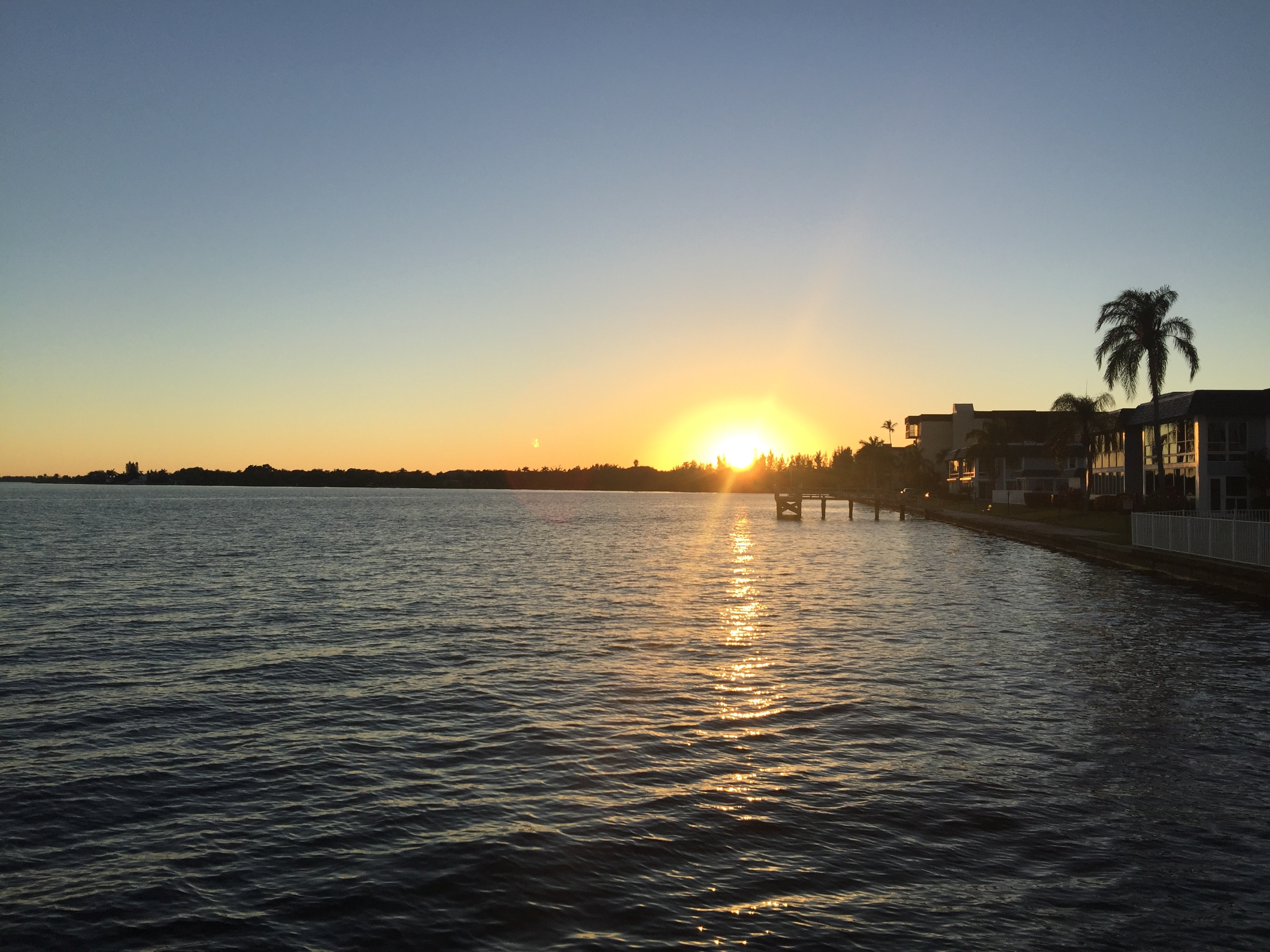 Beautiful sunsets on the dock